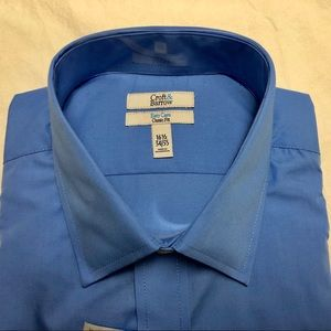 Croft & Barrow Blue Easy Care Classic Fit Shirt